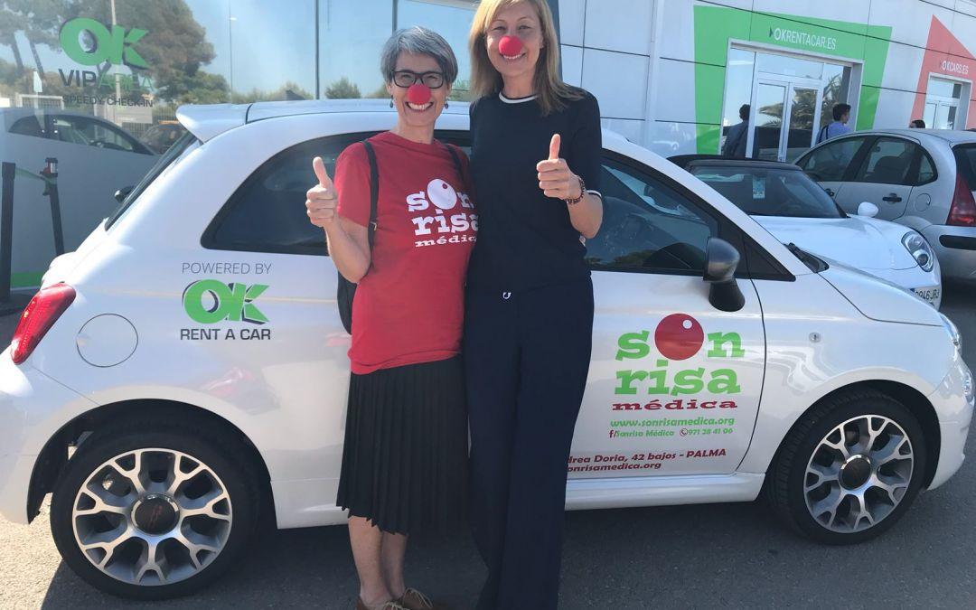 OK Rent a Car cede un coche a Sonrisa Médica para facilitar su labor en los hospitales de Mallorca