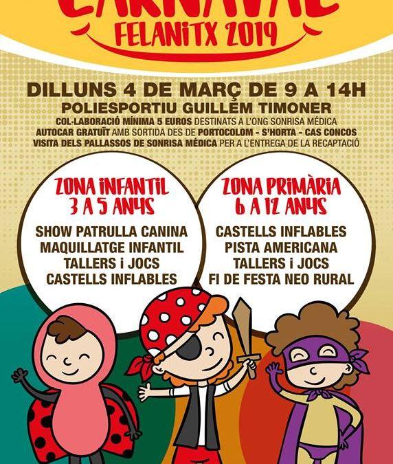 Carnaval solidario en Felanitx (4 de Marzo 2019)
