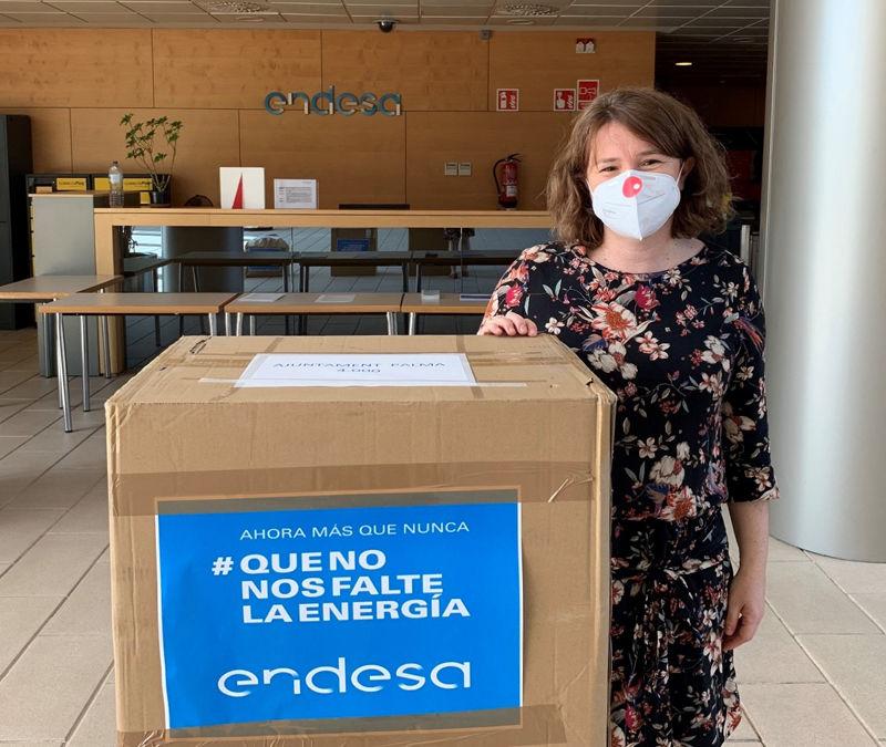 DONACIÓ DE MASCARETES PER PART D'ENDESA